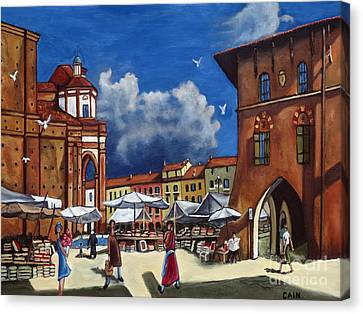 Marketplace Canvas Print by William Cain