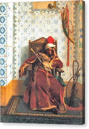 Markos Botsaris Canvas Print by Jean Leon Gerome