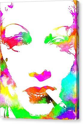 Marlene Dietrich Canvas Print by Daniel Janda