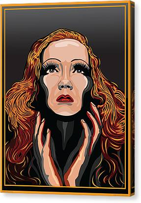 Marlene Dietrich Hollywood The Golden Age Canvas Print by Larry Butterworth