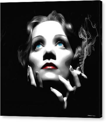 Marlene Dietrich Portrait Canvas Print