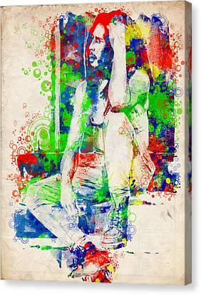 Dread Canvas Print - Marley 7 by Bekim Art