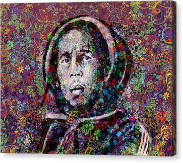 Marley Floral Version Canvas Print