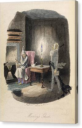 Marley's Ghost Canvas Print by British Library