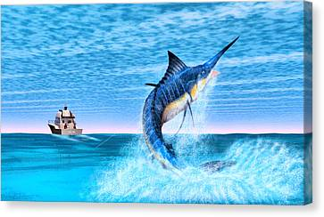 Marlin Fishing Canvas Print by Walter Colvin