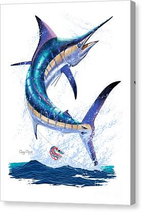 Marlin Leap Canvas Print by Carey Chen