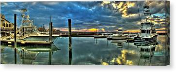 Marlin Quay Marina Canvas Print by Ed Roberts