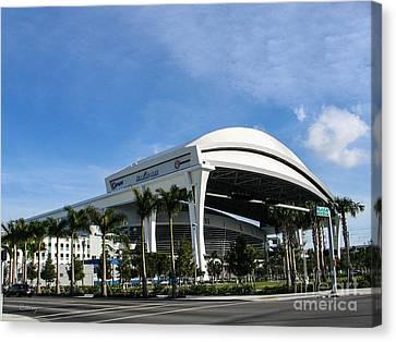 Marlins Park Stadium Miami 16 Canvas Print by Rene Triay Photography