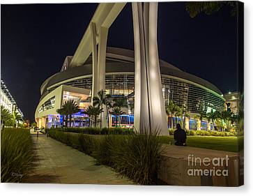 Marlins Park Stadium Miami 3 Canvas Print by Rene Triay Photography