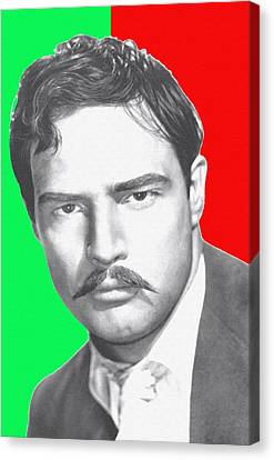Marlon Brando In Viva Zapata Canvas Print by Art Cinema Gallery