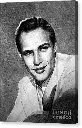Marlon Brando Canvas Print by Loredana Buford