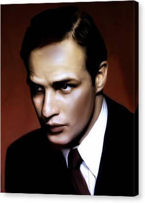 Marlon Brando Tribute Canvas Print