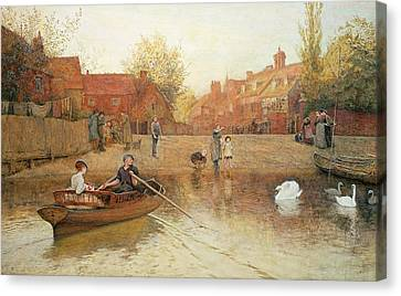 Marlow Ferry Canvas Print by Frederick Walker