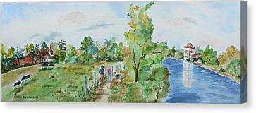 Marlow On Thames 3 Canvas Print by Geeta Biswas