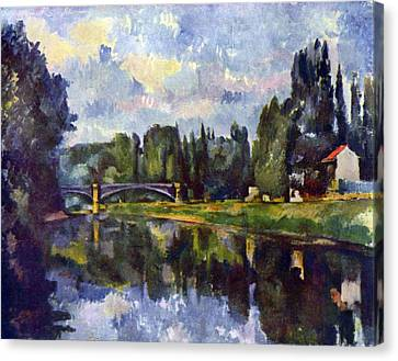 Marne Shore By Cezanne Canvas Print by John Peter