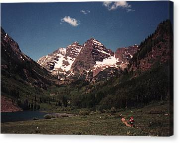 Canvas Print featuring the photograph Maroon Bells  Colorado by Bill Woodstock
