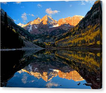 Maroon Bells Landscape Canvas Print by Ronda Kimbrow