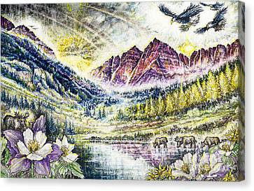 Maroon Bells  Canvas Print by Scott and Dixie Wiley