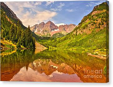 Maroon Bells Summer Canvas Print