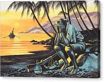 Marooned Man Canvas Print by Ron Embleton