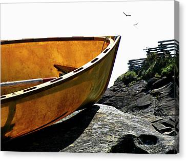 Canvas Print featuring the photograph Marooned by Micki Findlay