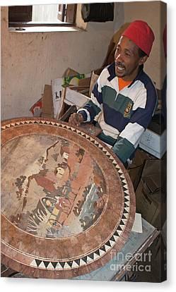 marquetry artwork from Madagascar  1 Canvas Print by Rudi Prott