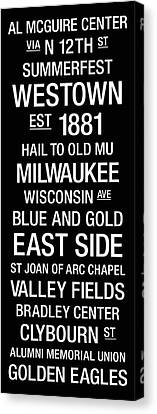 Marquette College Town Wall Art Canvas Print