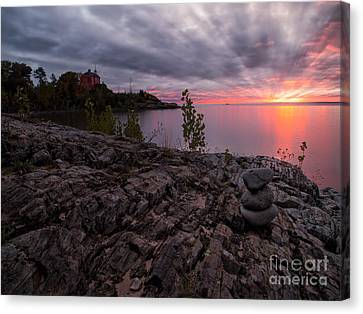 Marquette Harbor Lighthouse Canvas Print by Todd Bielby
