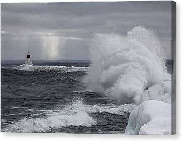 Marquette Michigan - The Splash Canvas Print by John McGraw