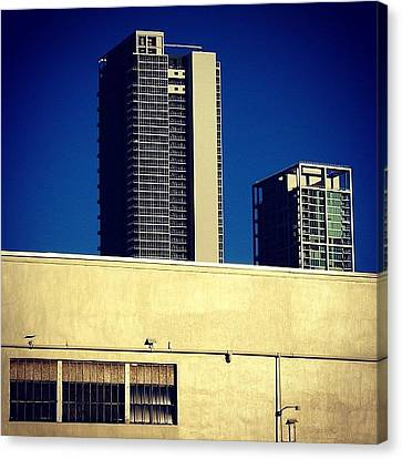 Marquis Bldg. & Museum Ten Bldg. - Canvas Print by Joel Lopez