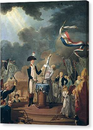 Marquis De La Fayette In The Federation Canvas Print by Everett