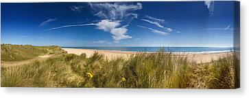 Marram Grass, Dunes And Beach Canvas Print by Panoramic Images