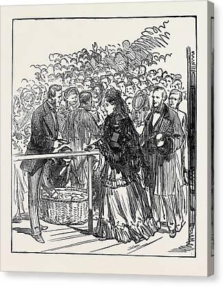 Marriage Festivities For The Duke Of Edinburgh The Royal Canvas Print by English School