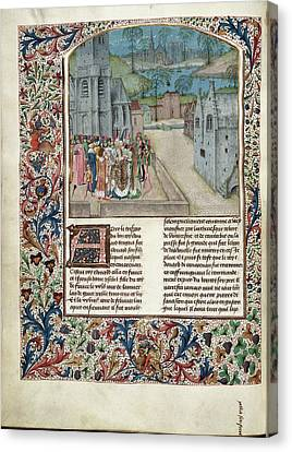 Marriage Of Edward II To Isabella Of Fran Canvas Print by British Library
