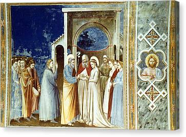 Marriage Of The Virgin Canvas Print by Granger