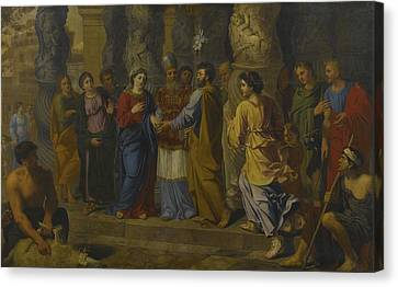 Marriage Of The Virgin Canvas Print by Celestial Images