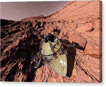 Mars 2 Landing Canvas Print