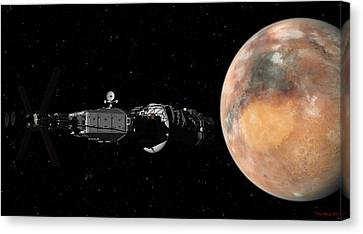 Mars Insertion A Different View Canvas Print by David Robinson