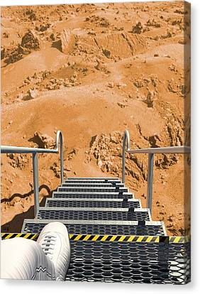 Mars Landing, Artwork Canvas Print by Science Photo Library