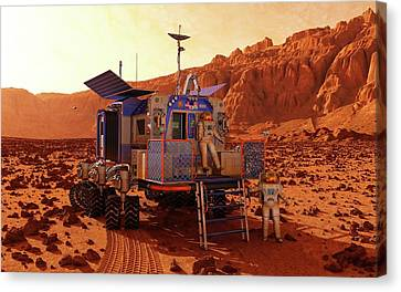 Mars Rover Canyon Canvas Print