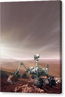 Mars Rover Curiosity Canvas Print by Detlev Van Ravenswaay