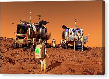 Mars Rovers Rendezvous Canvas Print by Walter Myers