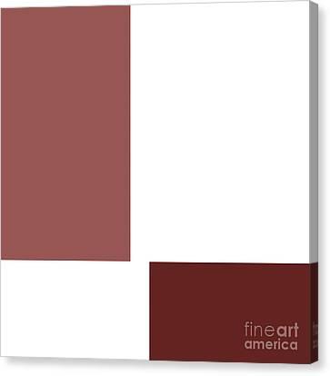 Marsala Minimalist Square 1 Canvas Print