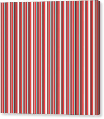 Marsala Stripe 2 Canvas Print