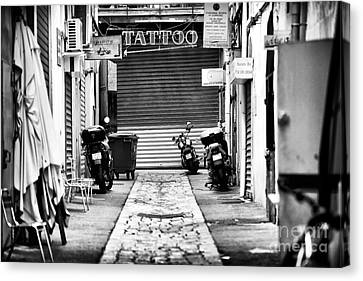 Marseille Tattoo Canvas Print by John Rizzuto