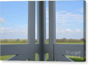 Marsh And Porch Canvas Print by Cathy Lindsey