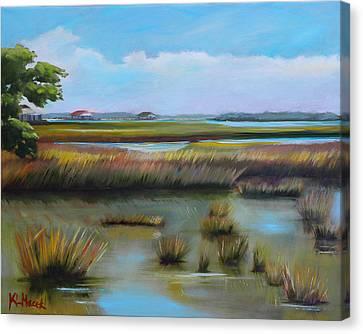 Marsh At Yellow Bluff Canvas Print by Karen Macek