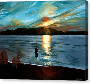 Marsh Creek October Sunset Canvas Print by Phillip Compton