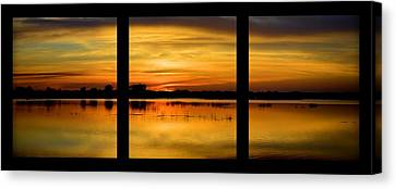 Marsh Rise Tiles 1-3 Canvas Print by Bonfire Photography