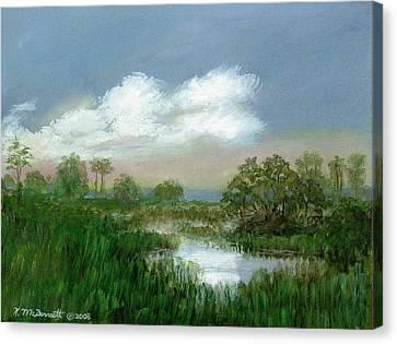 Marsh Sketch Canvas Print